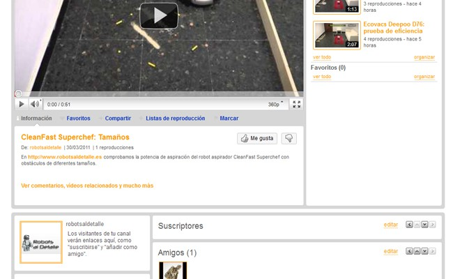 Robots al Detalle ahora también en Youtube