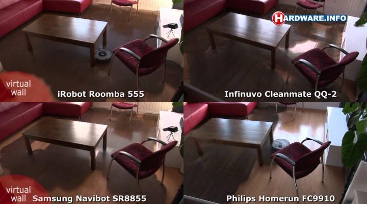 Prueba de cobertura: Roomba, Navibot, Cleanmate y Philips Homerun