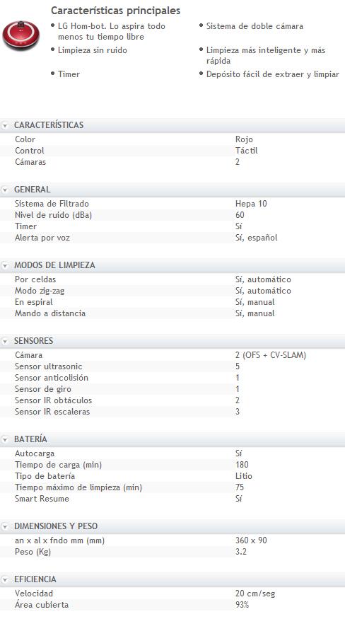 LG Hombot 5902 caracteristicas