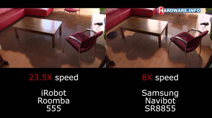 Prueba de cobertura: iRobot Roomba 555 vs Samsung Navibot SR8855