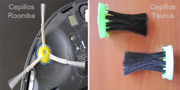 Roomba tiene 3 aspas