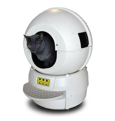 Es un robot que recoge excrementos de gato