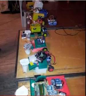 robots presentados en el concurso