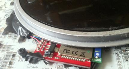 interfaz bluetooth conectada a Roomba