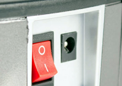 Rumbot detalle interruptor y toma de carga