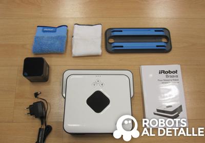 iRobot Braava 320 contenido de la caja