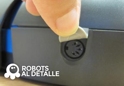 iRobot Scooba 390 detalle conector carga de batería