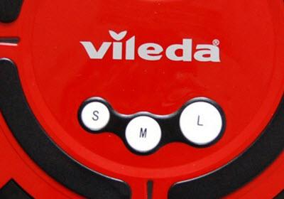 detalle botones robot aspirador Vileda M-488A