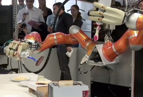Palomitas y Sandwiches hechos por robots