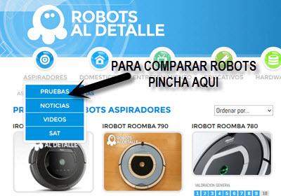 Compara dos robots aspiradores a tu elección