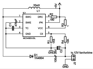 esquema circuito Step-up del prototipo V13