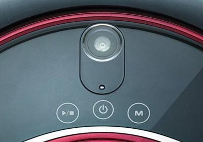 Detalle botones robot aspirador Rydis H-68 Pro