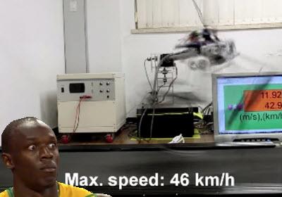 Robot raptor es muy rápido