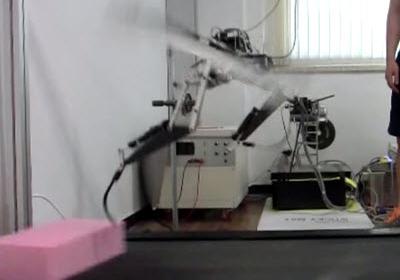 Robot raptor salta obstáculos