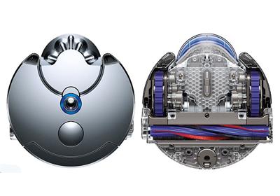 Vista superior e inferior robot Dyson 360 Eye