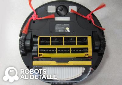 Aspirador robot eziclean BOT Pets Detalle parte inferior