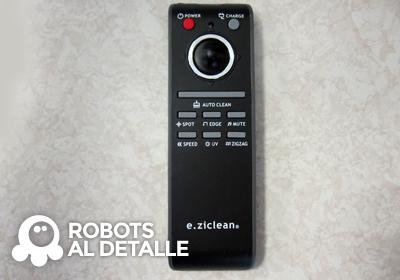 El Robot aspirador eziclean BOT Pets mando a distancia