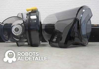 Samsung Powerbot depósito y compartimento del filtro