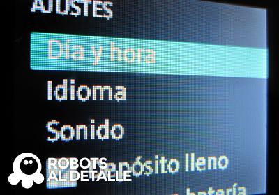 Buscamos dia y hora  menu  ajustes  Kobold VR- 200