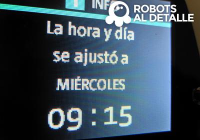 Mensaje ajuste Horario Kobold VR-200