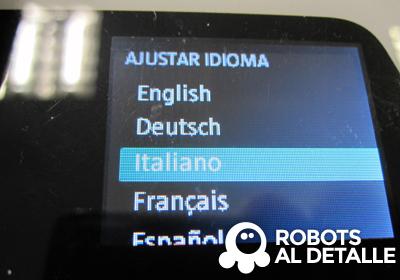 Kobold VR-200 ajustar idioma