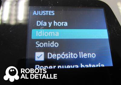 Kobold VR-200 menu ajustes