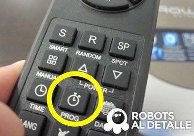 Pulsamos botón PROG robot Rowenta