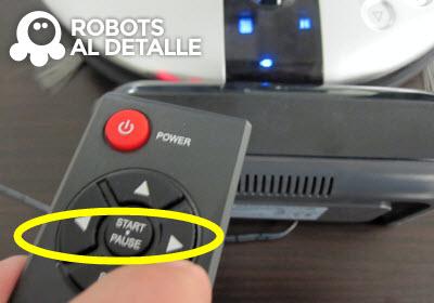Pulsamos botón direccional robot Rowenta