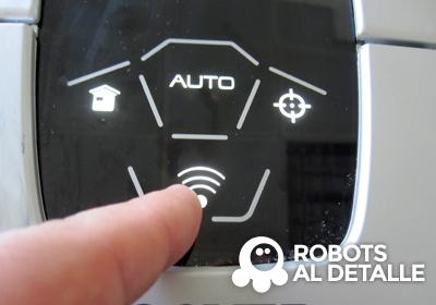 Pulsa botón wifi del robot