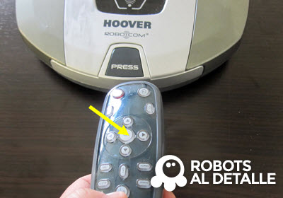 Pulsa boton ok mando Hoover Robocom