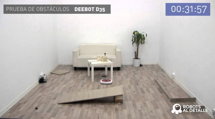 Deebot D35: Prueba de Obstáculos