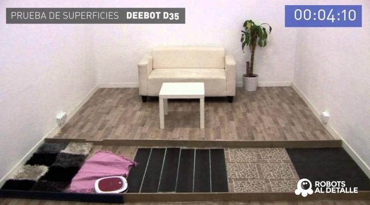 Deebot D35: Prueba de Superficies