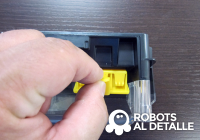Extraccion filtro irobot roomba 700