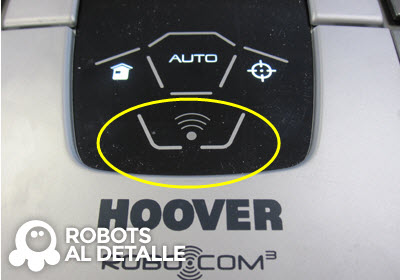 Robot Hoover Robocom RBC090 boton wifi