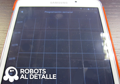 Robot Hoover Robocom RBC090 cuadrante programacion