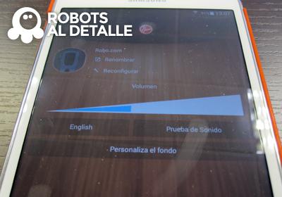 Robot Hoover Robocom RBC090 seccion configuracion