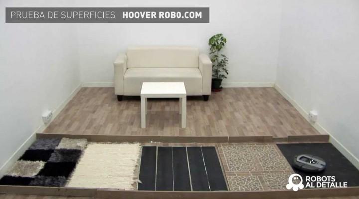 Hoover Robo.com RBC 090: Prueba de Superficies