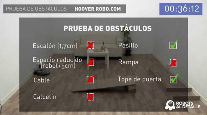 Hoover Robocom RBC 090: Prueba de Obstáculos