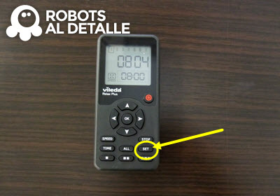 Pulsar boton set aspirador Vileda Relax Plus
