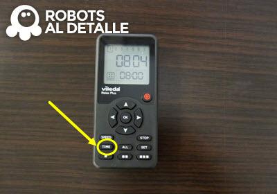 Pulsar boton time robot aspirador Vileda Relax Plus