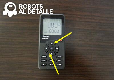 Pulsar botones arriba y abajo robot aspirador Vileda Relax Plus