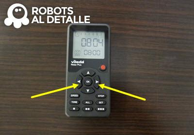Pulsar botones derecha e izquierda robot aspirador Vileda Relax Plus
