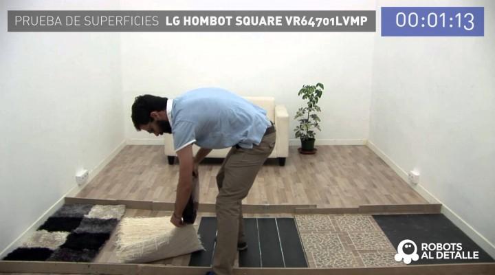 LG Hombot Square VR64701LVMP: Prueba de Superficies
