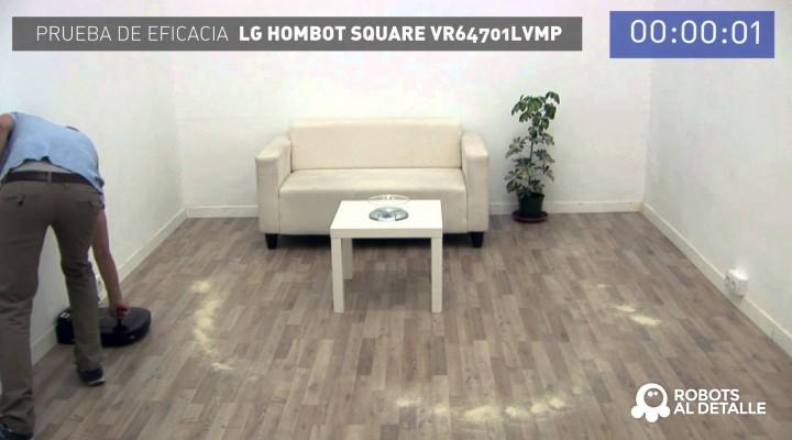 LG Hombot Square VR64701LVMP: Prueba de Eficacia