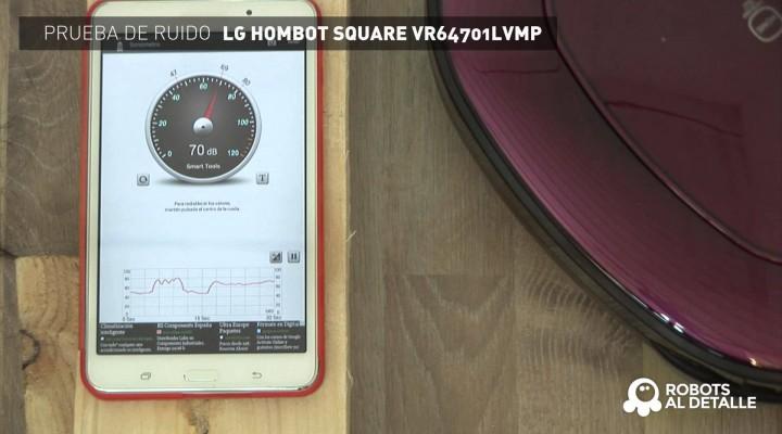LG Hombot Square VR64701LVMP: Prueba de Ruido