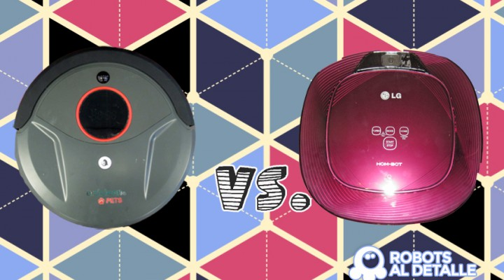 Comparativa Eziclean Bot Pets vs. LG Homot Square VR64701 LVMP