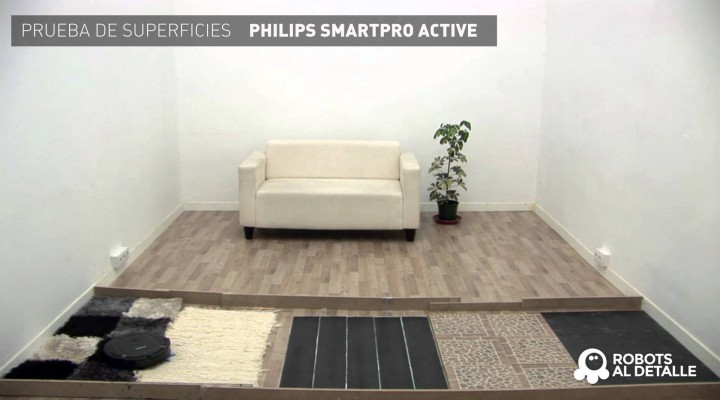 Philips SmartPro Active: Prueba de Superficies