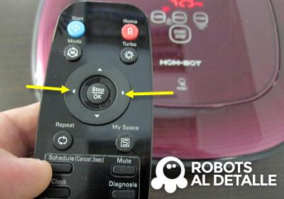 usamos botones izquierda y derecha