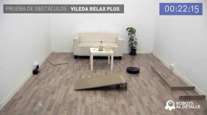 Robot Vileda Relax Plus prueba de Obstáculos