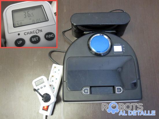 medida consumo energético robot aspirador Neato BotVac D85